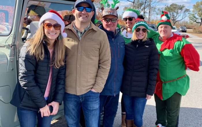 Amy and the Lennar team at Christmastime