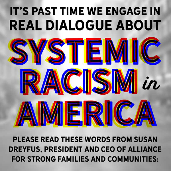 It's past time we engage in real dialogue about systemic racism in America.